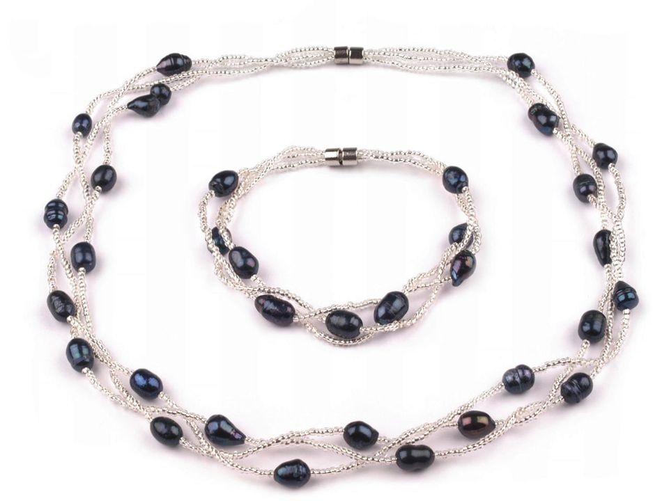 65d6e02e45 Náhrdelník a náramek s černými perlami (160480-1)